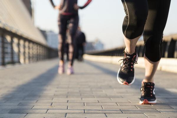 close up woman running