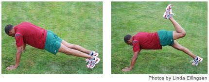 Backward kicks