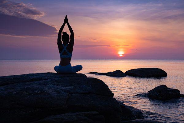asia girl yoga