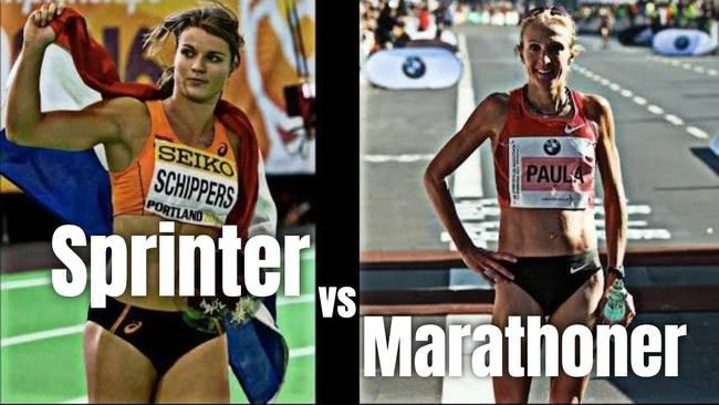 su khac nhau sprinter vs marathon