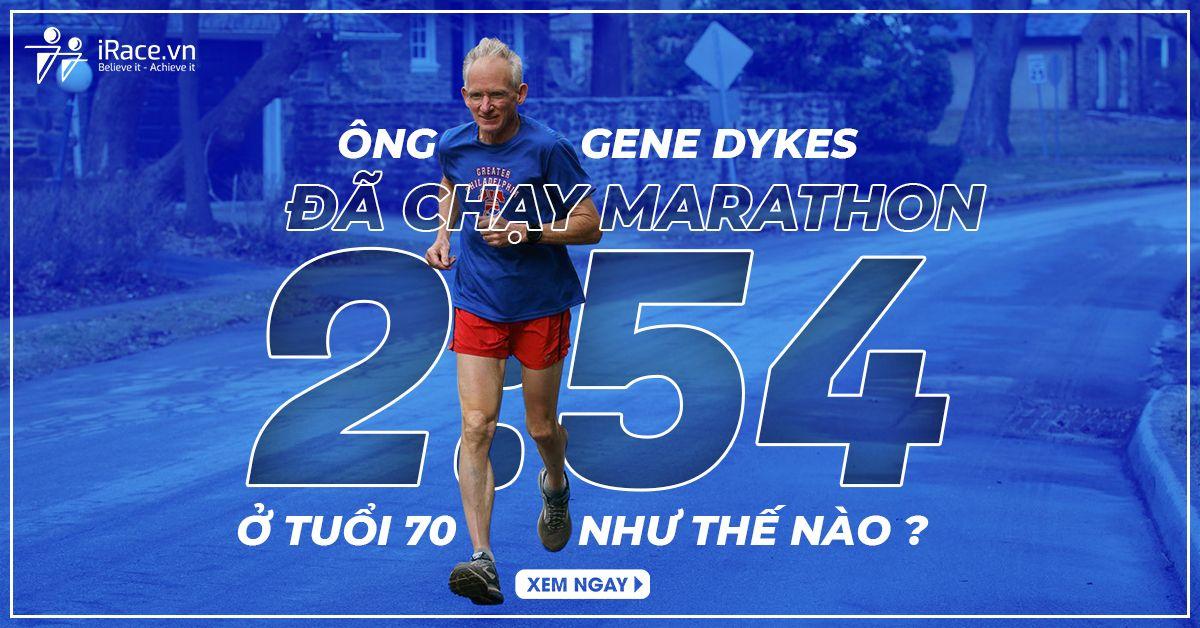 Gene Dykes finish marathon