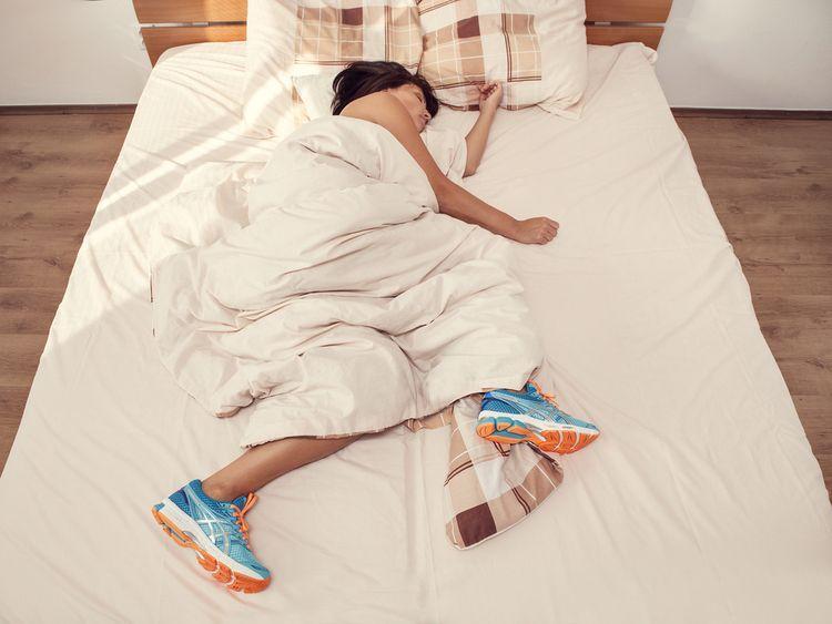 runner sleeping