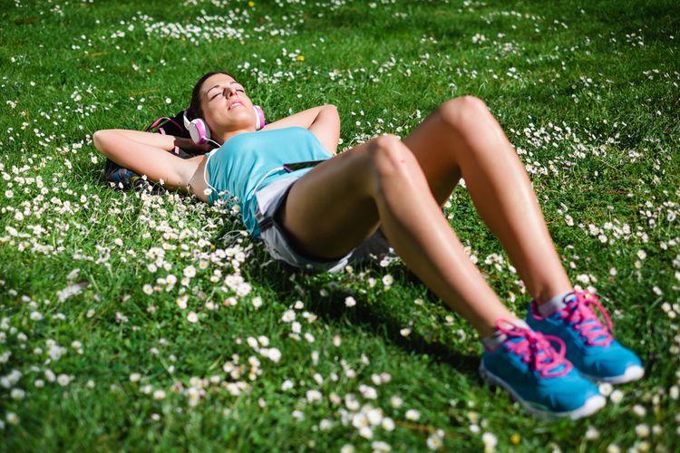 relax after run