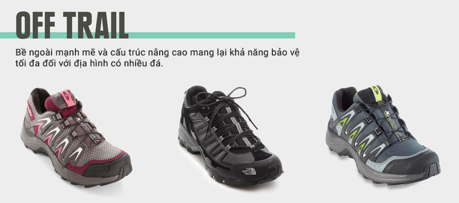running shoe types off trail