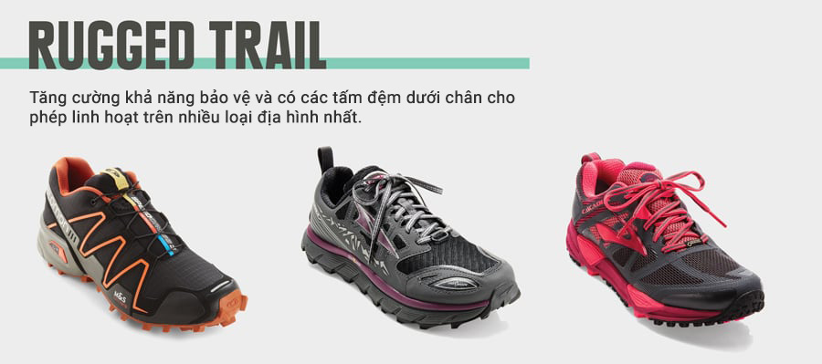 running shoe types rugged trail