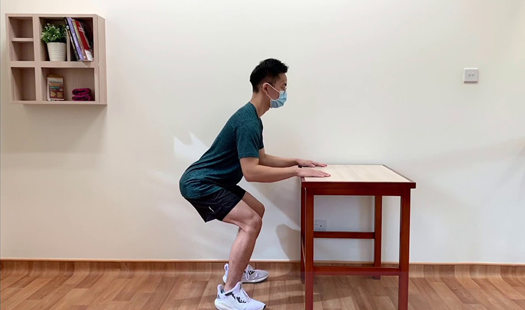 Half Squats with table