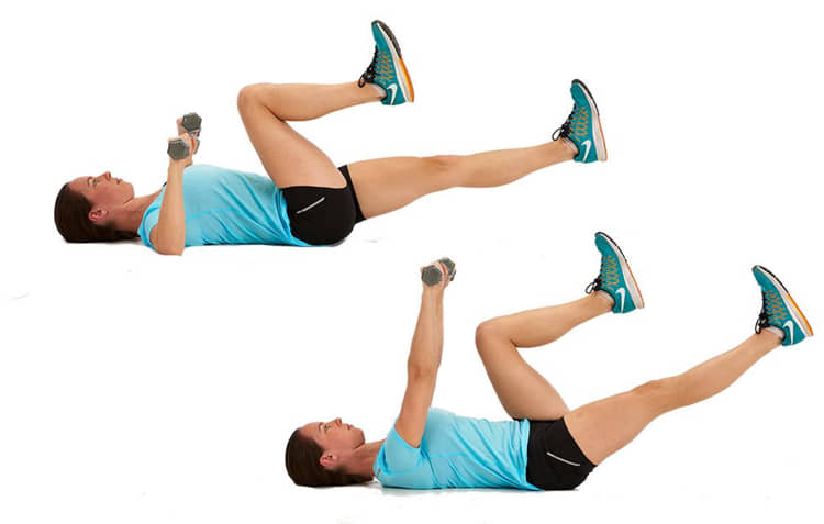 Chest Press with Bicycle