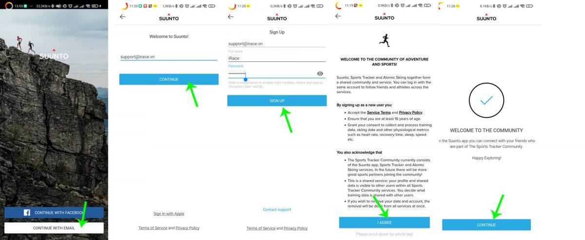 Hướng dẫn sử dụng ứng dụng Suunto để tham gia chạy bộ trên iRace