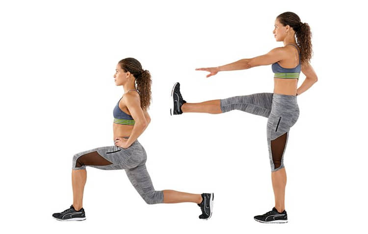reverse lunge combined