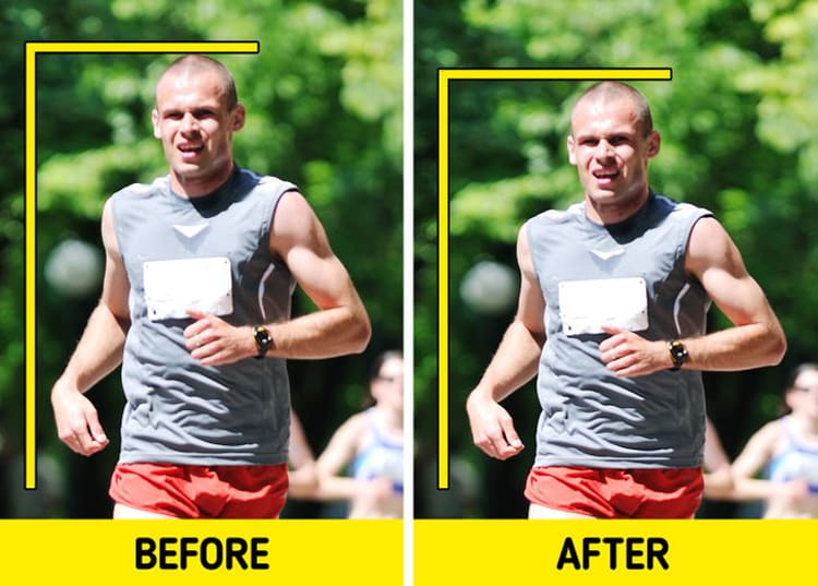 You can become shorter when running