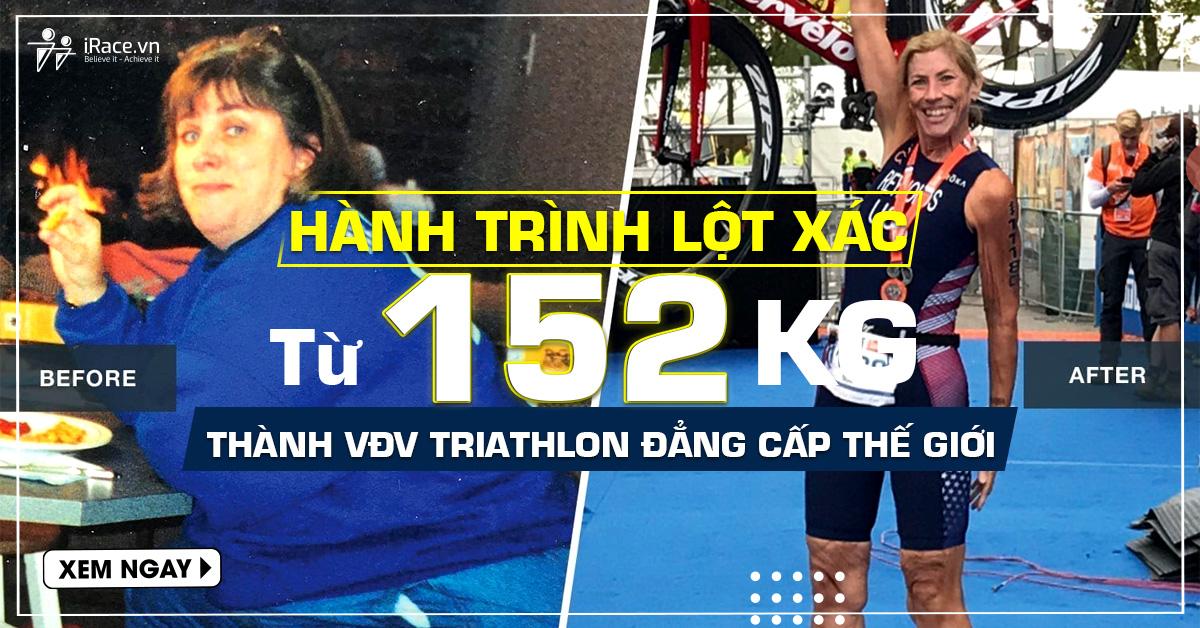 hanh trinh lot xac tu 152kg thanh vdv triathlon